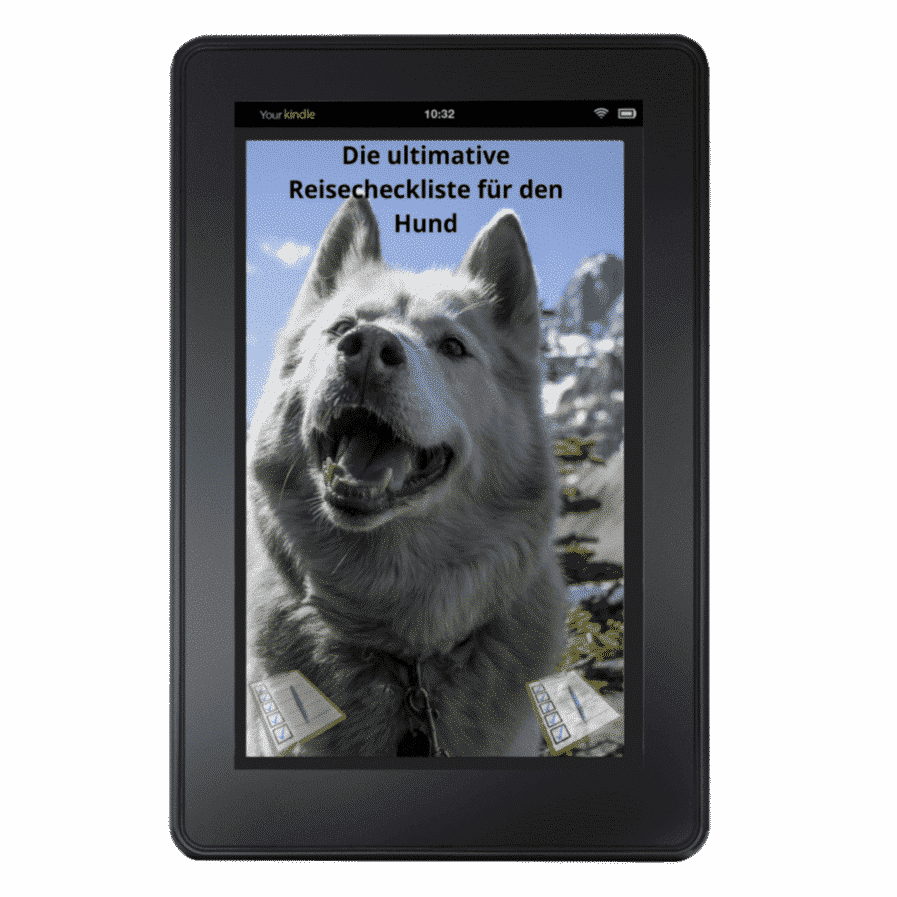 die ultimative Reisecheckliste für den hund Tablet Cover